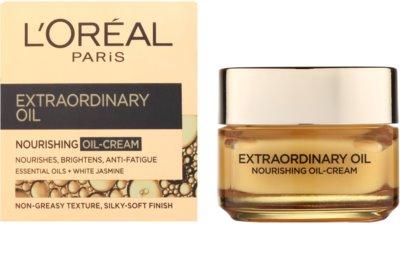 L'Oréal Paris Extraordinary Oil crema  nutritiva con aceite  contra signos de cansancio 1