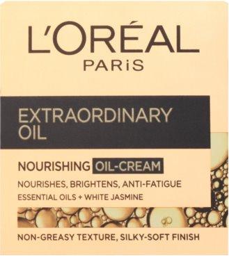 L'Oréal Paris Extraordinary Oil crema  nutritiva con aceite  contra signos de cansancio 2