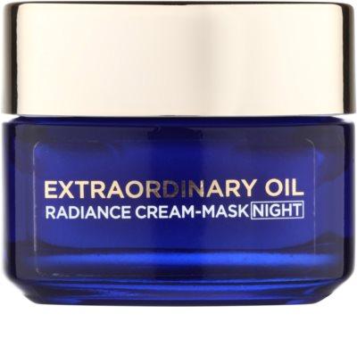 L'Oréal Paris Extraordinary Oil nährende Creme-Maske für die Nacht für trockene Haut