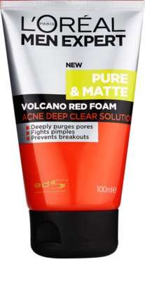 L'Oréal Paris Men Expert Pure & Matte espuma de limpieza profunda  anti-acné
