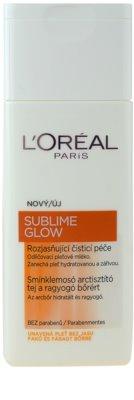L'Oréal Paris Sublime Glow lapte demachiant