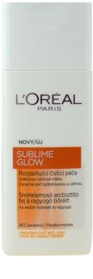 L'Oréal Paris Sublime Glow mleczko oczyszczające