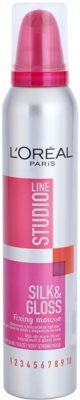 L'Oréal Paris Studio Line Silk&Gloss Fixing espuma fijadora fijación fuerte