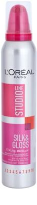 L'Oréal Paris Studio Line Silk&Gloss Fixing spuma  fixare puternica