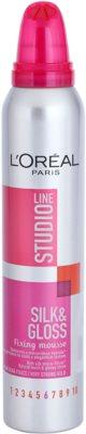 L'Oréal Paris Studio Line Silk&Gloss Fixing пінка для волосся сильної фіксації 1