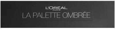 L'Oréal Paris Color Riche La Palette Ombrée paleta de sombras de ojos con espejo y aplicador 1