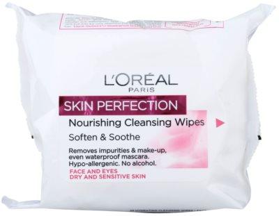 L'Oréal Paris Skin Perfection čisticí ubrousky pro suchou a citlivou pokožku