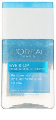 L'Oréal Paris Skin Perfection removedor de maquilhagem bifásico para contornos dos olhos e lábios