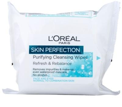 L'Oréal Paris Skin Perfection čistilni robčki za normalno do mešano kožo
