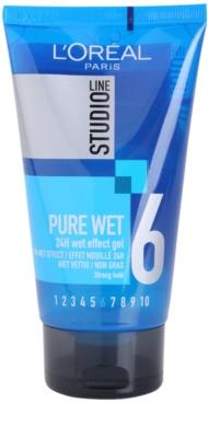 L'Oréal Paris Studio Line Pure Wet gel para el cabello con efecto mojado