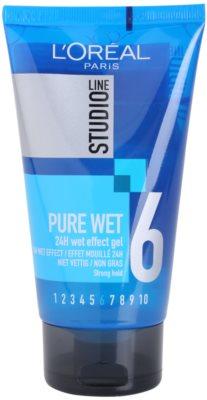 L'Oréal Paris Studio Line Pure Wet gel za lase z mokrim učinkom
