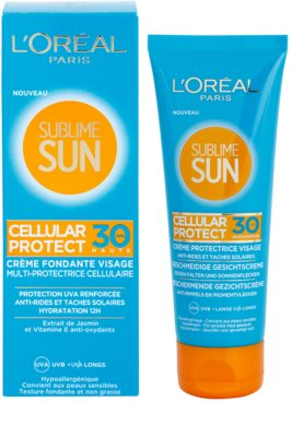 L'Oréal Paris Sublime Sun creme facial protetor SPF 30 1