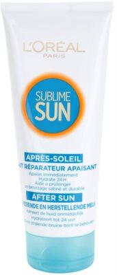 L'Oréal Paris Sublime Sun lapte calmant dupa expunere la soare