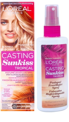 L'Oréal Paris Casting Sunkiss Tropical spray para aclarar o cabelo natural 1