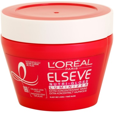 L'Oréal Paris Elseve Nutri-Gloss Luminizer mascarilla nutritiva para cabello para dar brillo