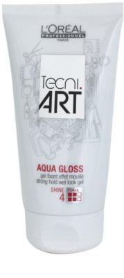 L'Oréal Professionnel Tecni Art Aqua Gloss gel com efeito molhado fixação forte