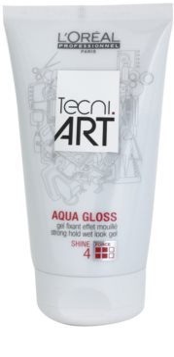 L'Oréal Professionnel Tecni Art Aqua Gloss Haargel mit Wet-Effekt starke Fixierung