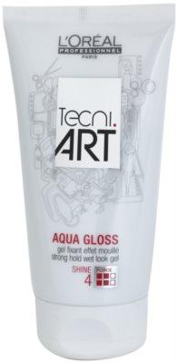 L'Oréal Professionnel Tecni Art Aqua Gloss vizes hatású hajzselé erős fixálás