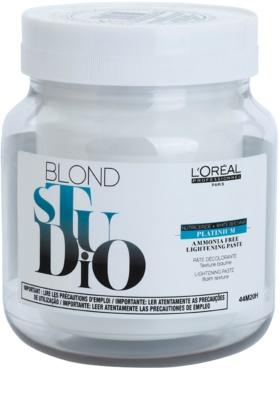 L'Oréal Professionnel Blond Studio Platinium posvetlitvena pasta brez amoniaka