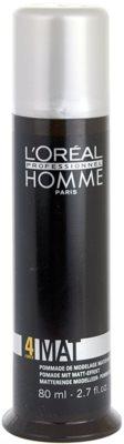 L'Oréal Professionnel Homme Styling pasta modeladora para aspeto mate