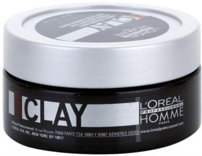 L'Oréal Professionnel Homme Styling modelovací hlína silné zpevnění