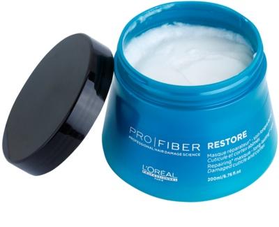 L'Oréal Professionnel Pro Fiber Restore megújító maszk sérült, vegyileg kezelt hajra 1