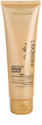 L'Oréal Professionnel Série Expert Absolut Repair Lipidium regeneráló és védő krém a hajformázáshoz, melyhez magas hőfokot használunk