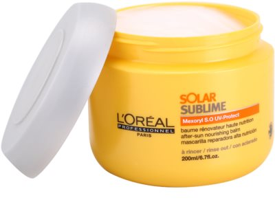 L'Oréal Professionnel Série Expert Solar Sublime Maske mit ernährender Wirkung für von der Sonne überanstrengtes Haar 1