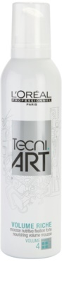 L'Oréal Professionnel Tecni Art Volume espuma nutritiva de fixação forte para volume duradouro