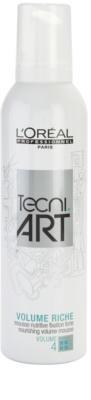 L'Oréal Professionnel Tecni Art Volume espuma nutritiva fijación fuerte para volumen de larga duración