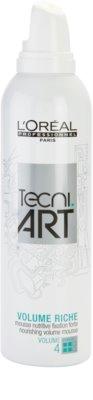 L'Oréal Professionnel Tecni Art Volume espuma nutritiva fijación fuerte para volumen de larga duración 1