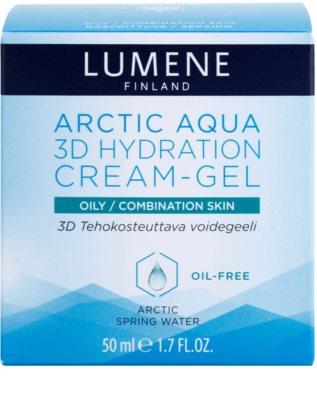 Lumene Arctic Aqua nawilżający krem w żelu do skóry tłustej i mieszanej 2