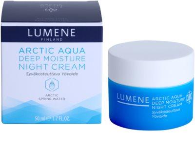 Lumene Arctic Aqua hloubkově hydratační noční krém pro normální a suchou pleť 2