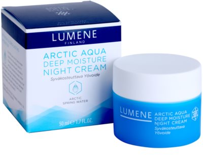 Lumene Arctic Aqua hloubkově hydratační noční krém pro normální a suchou pleť 3