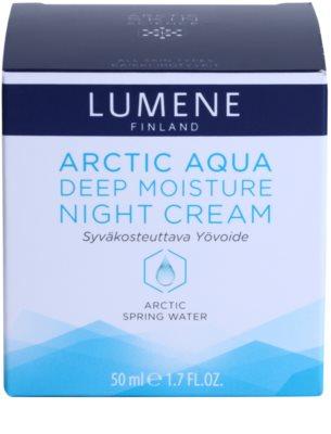 Lumene Arctic Aqua hloubkově hydratační noční krém pro normální a suchou pleť 4