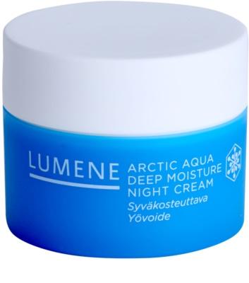 Lumene Arctic Aqua crema de noche hidratación profunda para pieles normales y secas