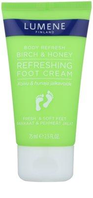 Lumene Body Refresh Birch & Honey освіжаючий крем для ніг