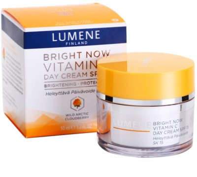 Lumene Bright Now Vitamin C creme de dia hidratante SPF 15 3
