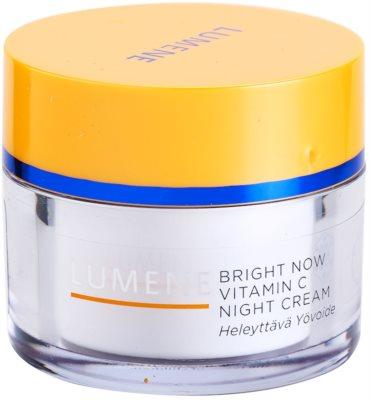 Lumene Bright Now Vitamin C crema de noapte pentru toate tipurile de ten