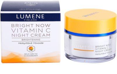 Lumene Bright Now Vitamin C Nachtcreme für alle Hauttypen 1