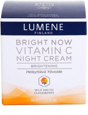 Lumene Bright Now Vitamin C Nachtcreme für alle Hauttypen 4