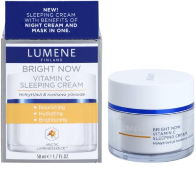 Lumene Bright Now Vitamin C crema facial de noche 1