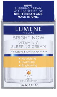 Lumene Bright Now Vitamin C éjszakai arckrém 2