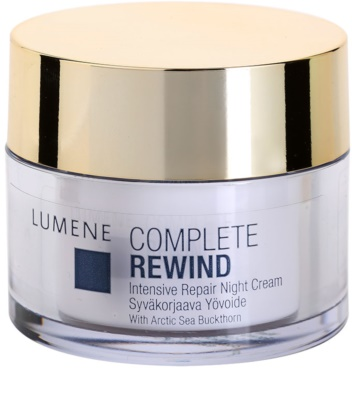 Lumene Complete Rewind crema de noche rejuvenecedora intensa
