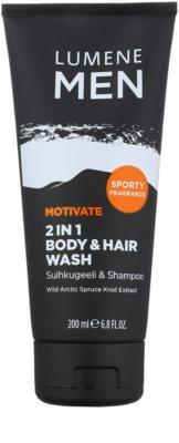 Lumene Men Motivate гель для душа для тіла та волосся