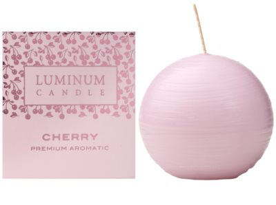 Luminum Candle Premium Aromatic Cherry vela perfumado   pequeno (Sphere 60 mm, 15 Hours)