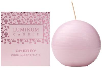 Luminum Candle Premium Aromatic Cherry vonná sviečka   malá (Sphere 60 mm, 15 Hours)