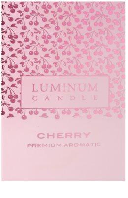 Luminum Candle Premium Aromatic Cherry vela perfumado   intermédio (Pillar 60 - 80 mm, 32 Hours) 2