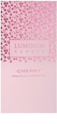 Luminum Candle Premium Aromatic Cherry ароматна свещ    голяма (Pillar 70 - 130 mm, 65 Hours) 2