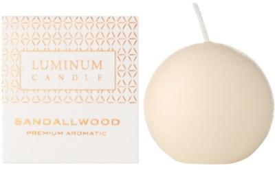 Luminum Candle Premium Aromatic Sandallwood vonná sviečka   malá (Sphere 60 mm, 15 Hours)
